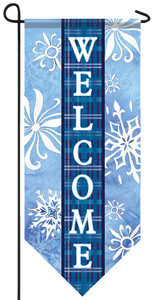 Welcome Snowflakes Garden Banner - I AmEricas Flags