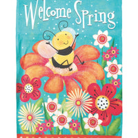 Welcome Spring Bee House Flag