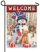 Welcome Winter Friends Garden Flag