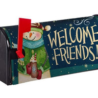 Welcome Winter Snowman Nylon Mailbox Cover