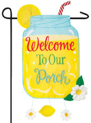 Welcome to Our Porch Double Applique Garden Flag