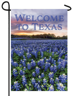 Welcome to Texas Bluebonnets Garden Flag