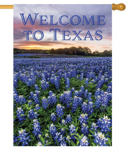 Welcome to Texas Bluebonnets House Flag