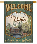 Welcome to the Cabin House Flag