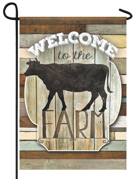 Welcome to the Farm Cow Garden Flag