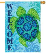 Welcome Sea Turtle House Flag