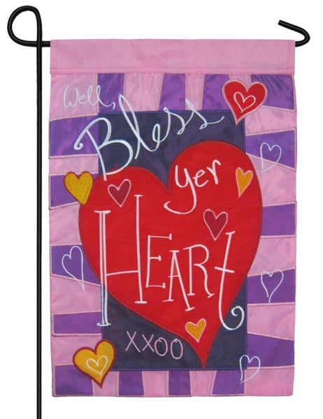 Well Bless Your Heart Valentine Double Applique Garden Flag - I AmEricas Flags