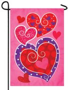 Whimsy Hearts Double Applique Garden Flag