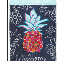 Whimsy Pineapple Double Applique Garden Flag