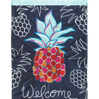 Whimsy Pineapple Double Applique House Flag