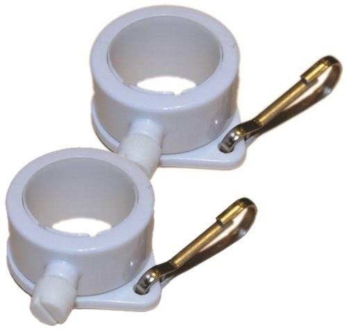 White Rotating 1-1/4 Inch Mounting Ring Pair - Flagpoles | Hardware/Miscellaneous Flag Mounting Hardware - I AmEricas Flags