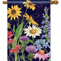 Wildflower Mix House Flag
