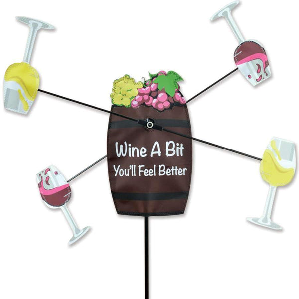 Wine Barrel WhirliGig Wind Spinner