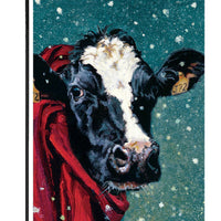 Winter Cow Garden Flag