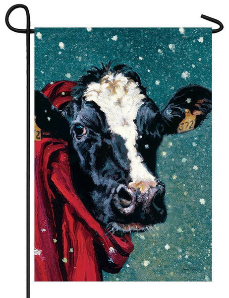 Winter Cow Garden Flag - All Decorative Flags/Seasons/Winter Flags - I AmEricas Flags