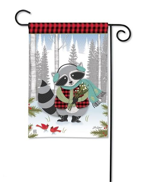 Winter Fun Raccoon Garden Flag - I AmEricas Flags