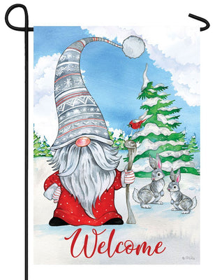Winter Gnome Welcome Garden Flag
