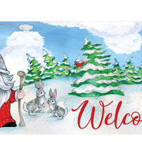 Winter Gnome Welcome Mailbox Cover