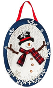 Winter Snowman Decorative Door Hanger