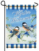 Winter Welcome Chickadees Garden Flag