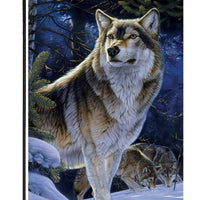 Winter Wolves Garden Flag