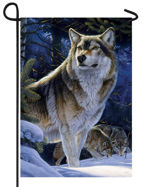 Winter Wolves Garden Flag - All Decorative Flags/Seasons/Winter Flags - I AmEricas Flags