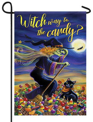 Witch Way Garden Flag