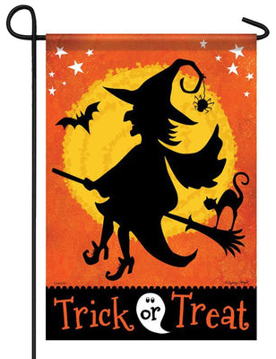 Witchy Trick or Treat Garden Flag