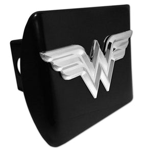 Wonder Woman 3D Black Hitch Cover - Chrome Car Emblems | Trailer Hitch Covers/DC Comics Emblems - I AmEricas Flags