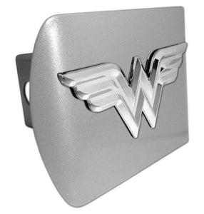 Wonder Woman 3D Brushed Chrome Hitch Cover