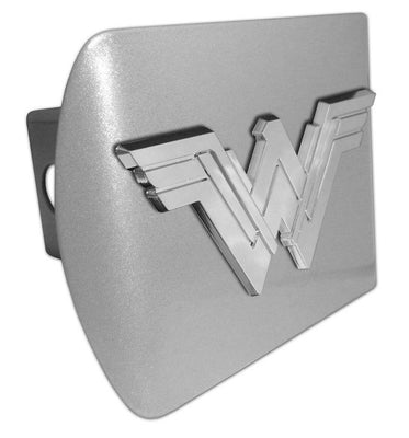 Wonder Woman Brushed Chrome Hitch Cover