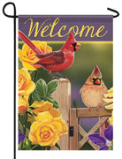 Yellow Rose Cardinals Garden Flag