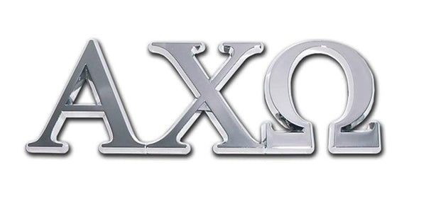 Alpha Chi Omega Sorority Chrome Car Emblem