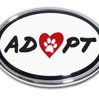 Pet Adoption Chrome Car Emblem