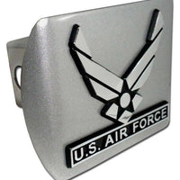 Air Force Wings Brushed Chrome Hitch Cover