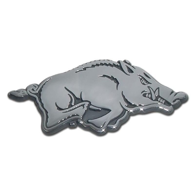 University of Arkansas Running Hog Chrome Car Emblem