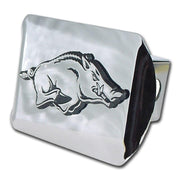 University of Arkansas Running Hog Shiny Chrome Hitch Cover
