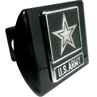 Army Star Black Hitch Cover - Chrome Car Emblems | Trailer Hitch Covers/Military Emblems - I AmEricas Flags