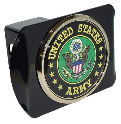 Army Green Seal Black Hitch Cover
