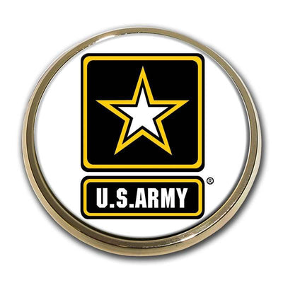 Army Star Seal Color Car Emblem