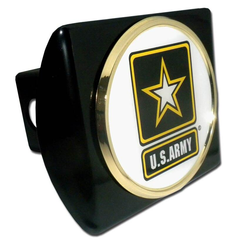 Army Star Seal Black Hitch Cover
