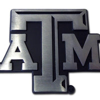 Texas A&M University ATM Matte Chrome Car Emblem