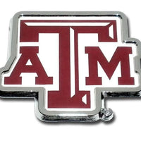 Texas A&M University ATM Chrome and Color Car Emblem