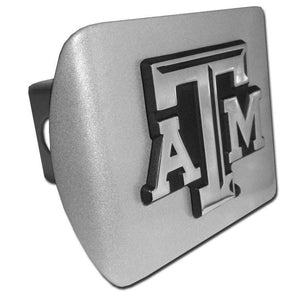 Texas A&M University ATM Brushed Chrome Hitch Cover