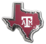 Texas A&M University State Shape Color Car Emblem