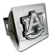 Auburn University Shiny Chrome Hitch Cover