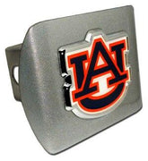 Auburn University Navy Brushed Chrome Hitch Cover