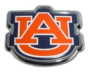 Auburn University Orange Chrome and Color Car Emblem