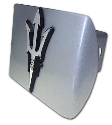 Arizona State University Pitchfork Brushed Chrome Hitch Cover