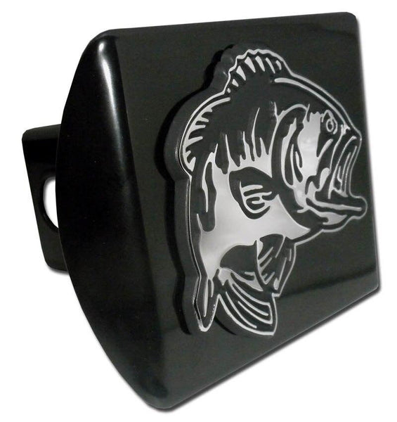 Bass Fish Black Hitch Cover